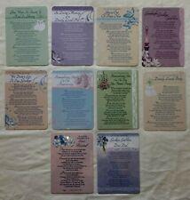 In Loving Memory Graveside Memorial tribute cards With Verse. Various Styles