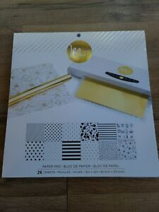 """Lot Of 2 Packages Of Heidi Swapp Minc 24 12""""x12"""" Paper 48 Sheets Total"""
