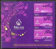 Azerbaijan 2014 Architecture Sport 1st European Games - Baku 2015 S/S MNH**