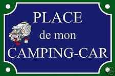 PLAQUE de rue PLACE CAMPING-CAR TAMALOU ALU 20x30 cm