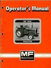 Massey Ferguson Tractor 1030 Operators Manual - MF1030