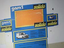 REFABRICATION BOITE RENAULT 4 L FOURGON F6   / SOLIDO 1976