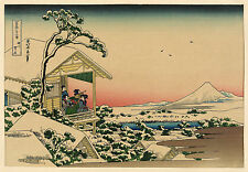 Japanese Art Print:Teahouse the Morning after a Snowfall - Fine Art Reproduction