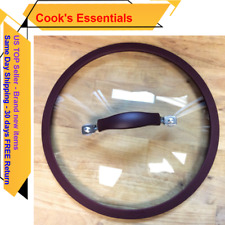 New listing Cooks Essential 24cm Glass Lid with Silicone Colander Skirt, Eggplant