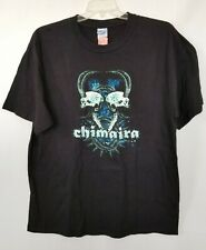 Chimaira T-Shirt Skull Back Concert 2006 Graphic Black Multi Cotton XL NEW