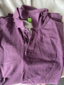 Hugo Boss Polo Shirt XXL Purple