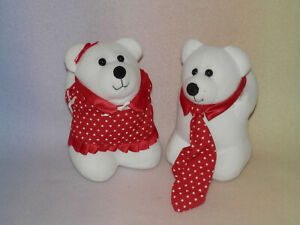 AVON KISS ME CUBS ** WHITE AND RED * NEW * 7 INCH * SO CUTE *