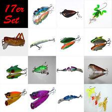 17 Stück Kunstköder Set Wobbler Hecht Barsch Angeln verschiedenen Farben Art 004
