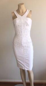SHEIKE White Dress Size 6 Cocktail Party Pencil Wiggle Races Dress