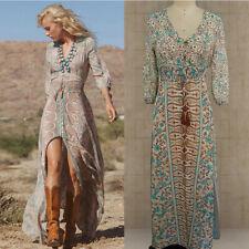 Boho Long Dresses  Women Chiffon Summer Evening Beach Party Maxi Dress Sundress