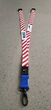 nike premium Lanyard keychain red/White  Break-Away safety clip Buy 2 GET 1 free