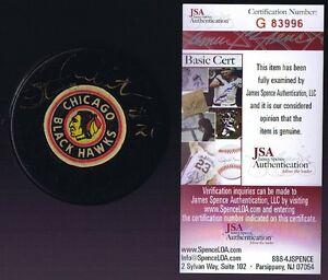 STAN MIKITA Signed CHICAGO BLACKHAWKS Viceroy Puck - JSA #G83996