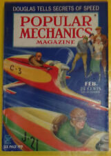 Popular Mechanics Feb 1935 Snowmobile - Autos Start To Finish Color Section See!