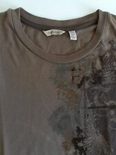 TED BAKER T-Shirt homme createur marron, Taille Medium size, brown, men