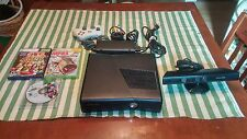 XBOX 360 SLIM BUNDLE WITH KINECT 120 GB 3 GAMES 1 CONTROLLER ALL CABLES