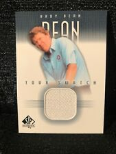 Andy Bean Upper Deck 2001 Tour Swatch SP Authentic Golf Shirt Card AB-TS
