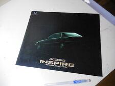 HONDA Accord Inspire Japanese Brochure 1990/08 CB5 G20A