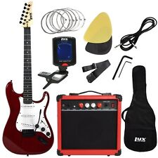 LyxPro Electric Guitar with 20w Amp, Package Includes All Accessories