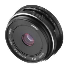 Meike 28mm f2.8 MF Fixed Prime	Lens Objektiv For Canon EF-M EOS M M10 M5 M6 M100
