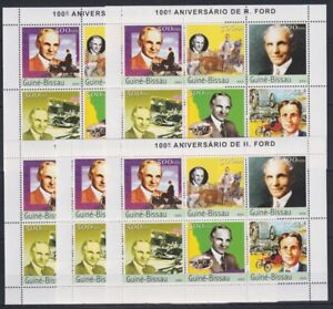 O455. 5x Guinea-Bissau - MNH - Famous People - Ford - 2003