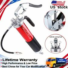 Portable 4,500 Psi Anodized Pistol Grip Heavy Duty Grease Gun Flexible Cordless