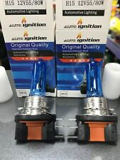 2 x H15 Bulbs Headlights Upgrade 80W 12V XENON LOOK DRL SUPER WHITE BRIGHT PAIR
