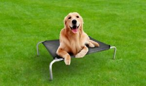 Portable Foldable Elevated Rex K9 Dog Bed Metal Frame Pet with Washable Cover