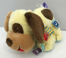 """Mary Meyer Baby Taggies Brown Plush Puppy Dog Lovey Stuffed Animal Toy 10"""""""