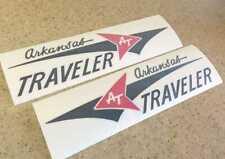 """Arkansas Traveler Boat Vintage Decal Black Red 12"""" FREE SHIP + FREE Fish Decal!"""
