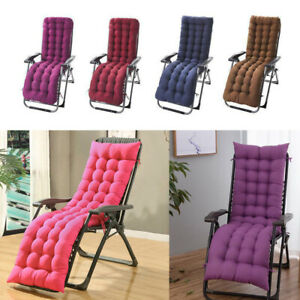 Sun Chair Lounger Cushion Pad Seat Recliner Cushions Cotton Garden Outdoor Bed