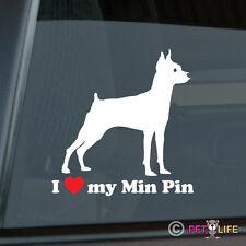 I Love My Miniature Pinscher Sticker Die Cut Vinyl - Min Pin Profile