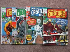 NICE !  > Lot of 4 WHERE CREATURES ROAM 1 2 3 4 comic book > 1st key monsters