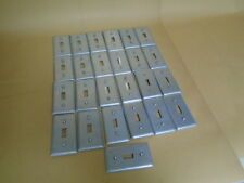 METAL LIGHT SWITCH COVER PLATE LOT OF 25PCS