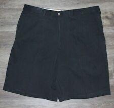 Tommy Bahama Men's Black Flat Front Silk Blend Casual Chino Shorts Sz 38