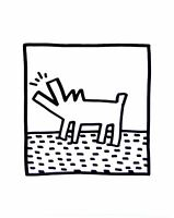 Keith Haring Barking dogs Poster Kunstdruck Bild 36x28cm Pop Art