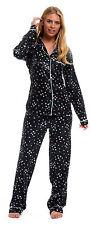 Ladies Satin Silky Pyjamas Scotty Dog Floral Animal Plain Black Red Summer PJs