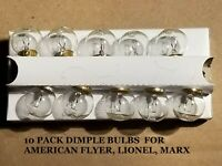DIMPLE BULBS 10 PACK 461  AIRCRAFT BEACON ROTARY TOP AMERICAN FLYER LIONEL MARX
