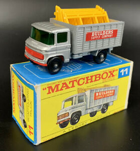 Vintage 1960's Matchbox Lesney #11 Mercedes Scaffolding Truck with original box