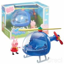New Peppa Pig's Blue Helicopter Playset & Figure Toy Copter Official