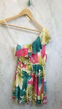 Erikch Womens One Shoulder Floral Dress Size UK 10 Brand New
