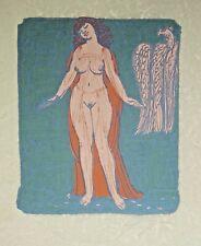 Ernst Fuchs phantastischer Akt signiert