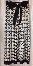Chanel Pant Daisy Sequin Runway Design Sheer Wide Leg  Silk Bow Size 36(2)