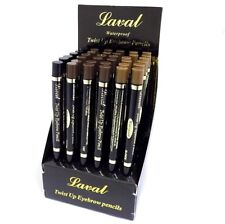 Laval Waterproof Twist Up Eye Brow Eyebrow Pencil - Blonde, Brown or Black