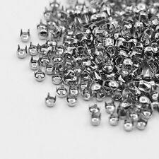 HK- 500 PCS New Silver Leathercraft DIY Round Studs Spots Spikes Rivets Punk BGB