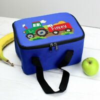 PERSONALISED Kids School Pack Lunch Bag - Boys Tractor Packed Lunch Dinner Box