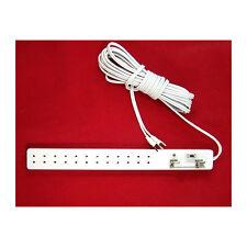 Creal 2594 Power Strip Für 12 Plug + Switch 12v White Dollhouse New !#