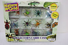 Boley Nature World Collector's Carry Case Realistic Mini Insect Spiders Set New