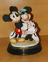 Armani Mickey and Minnie Mouse Figurine 1777-C Ltd Ed 75th Anniversary COA