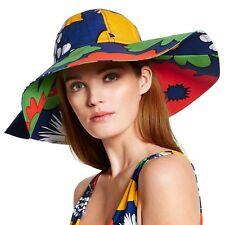Marimekko for Target Women's Canvas Sun Hat Kukkatori Print Primary Flowers