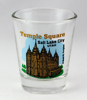 SALT LAKE CITY UTAH TEMPLE SQUARE SHOT GLASS SHOTGLASS